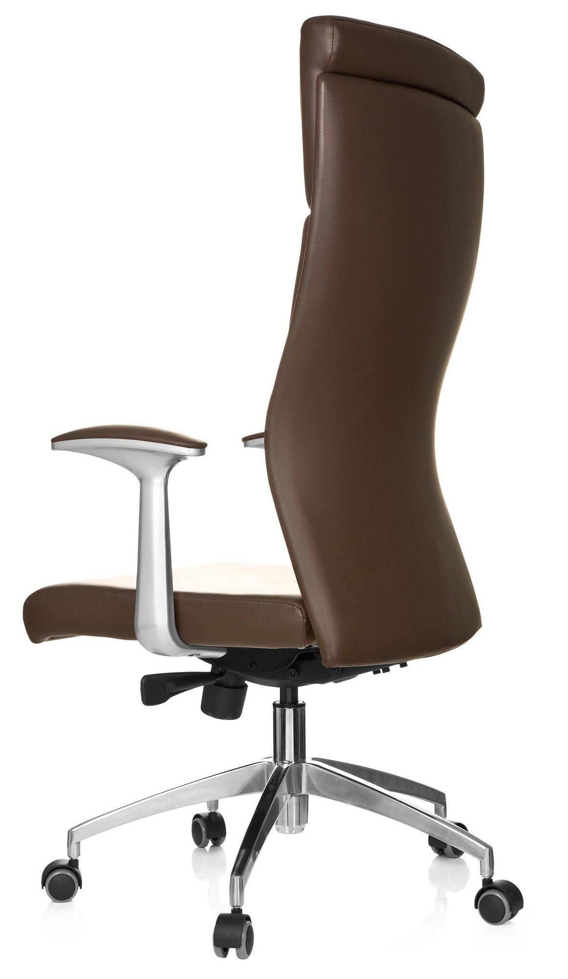 b rostuhl chefsessel monza 20 leder braun hjh office. Black Bedroom Furniture Sets. Home Design Ideas