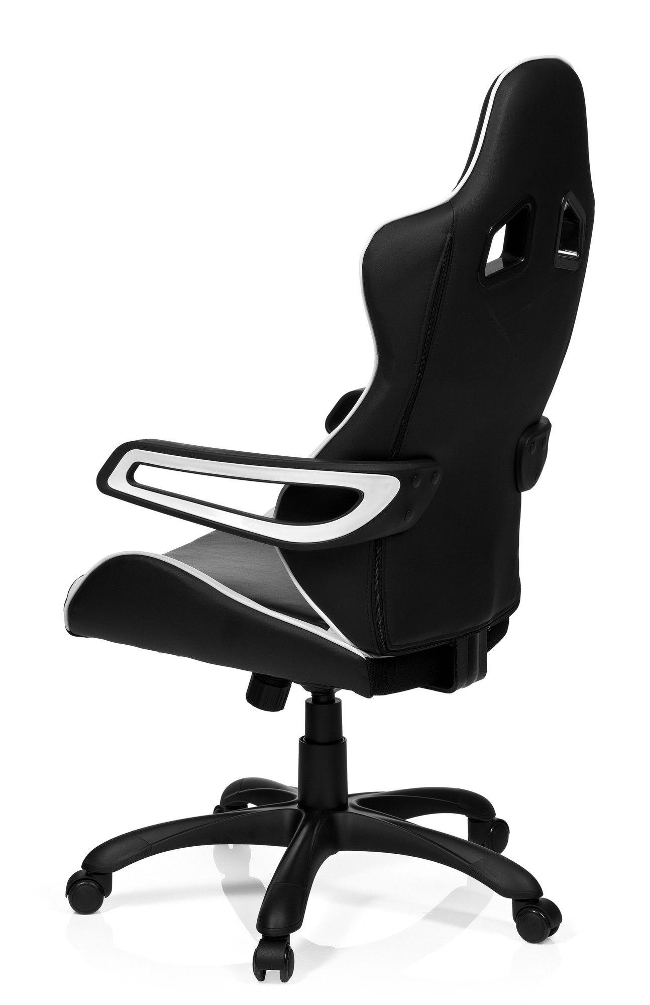 gaming stuhl b rostuhl racer pro i kunstleder schwarz wei hjh office b2b deutschland. Black Bedroom Furniture Sets. Home Design Ideas