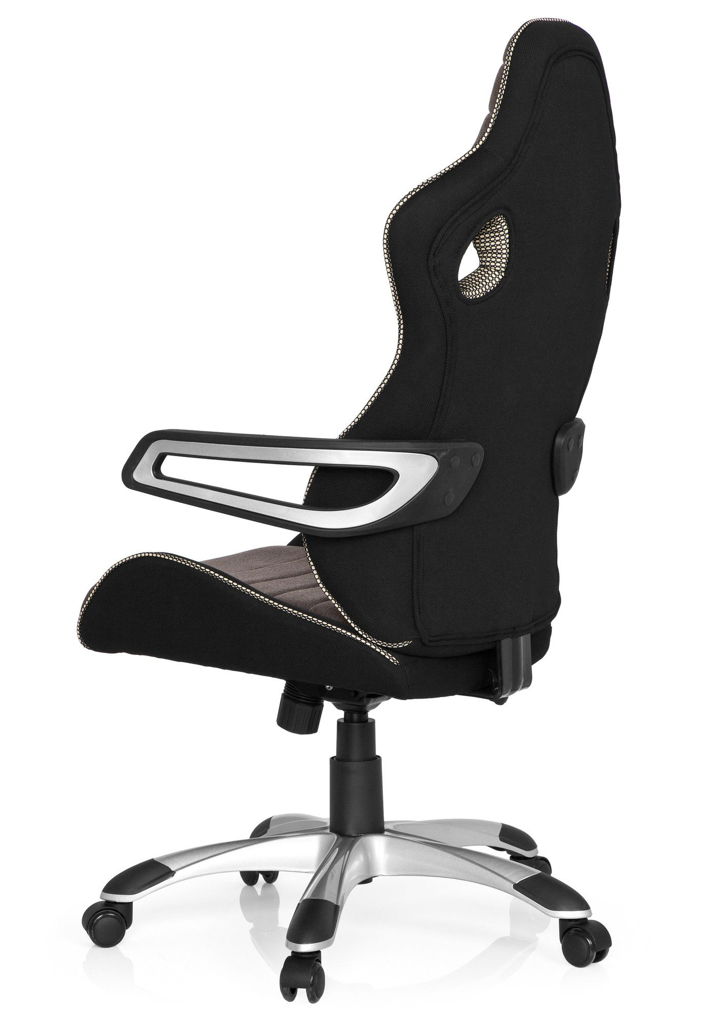 gaming stuhl b rostuhl racer pro iv stoff schwarz grau beige hjh office b2b deutschland. Black Bedroom Furniture Sets. Home Design Ideas