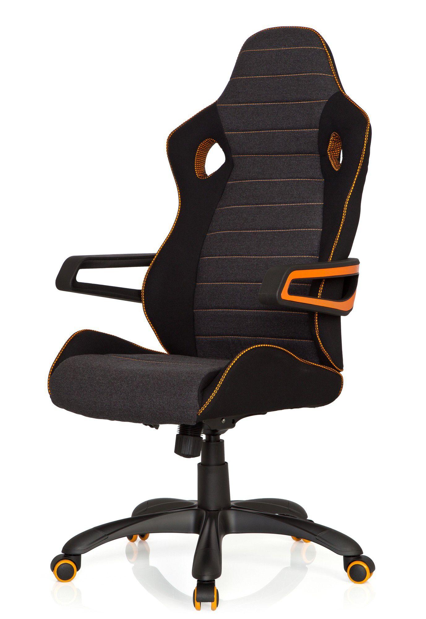 Gaming Stuhl Bürostuhl RACER PRO IV Stoff schwarzgrau