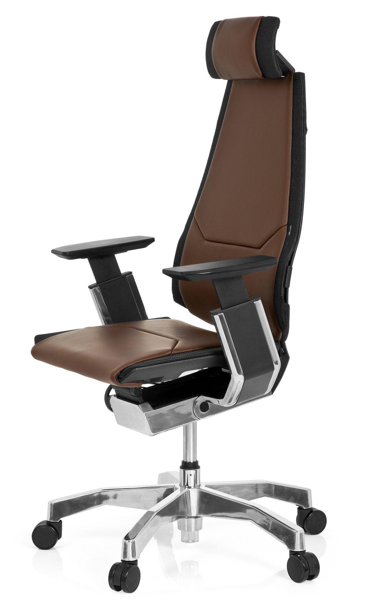 b rostuhl drehstuhl genidia pro leder braun hjh office b2b deutschland. Black Bedroom Furniture Sets. Home Design Ideas