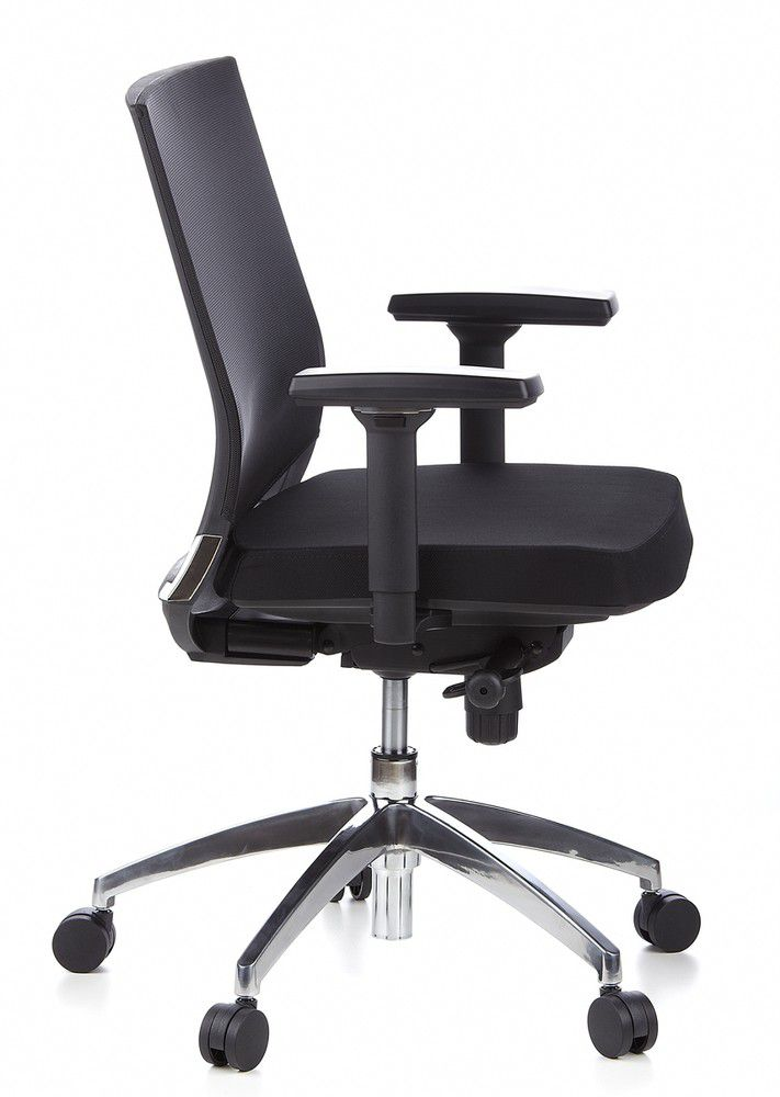 Bürostuhl Drehstuhl Schreibtischstuhl schwarz Netzstoff PORTO PRO hjh OFFICE
