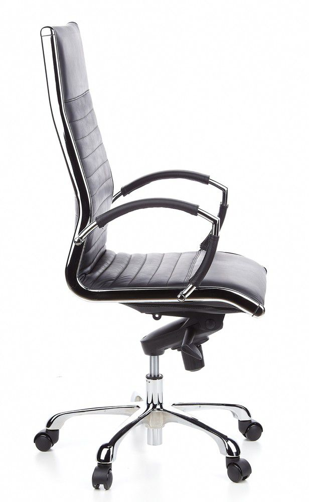 b rostuhl chefsessel parma 20 leder schwarz chrom hjh office b2b deutschland. Black Bedroom Furniture Sets. Home Design Ideas