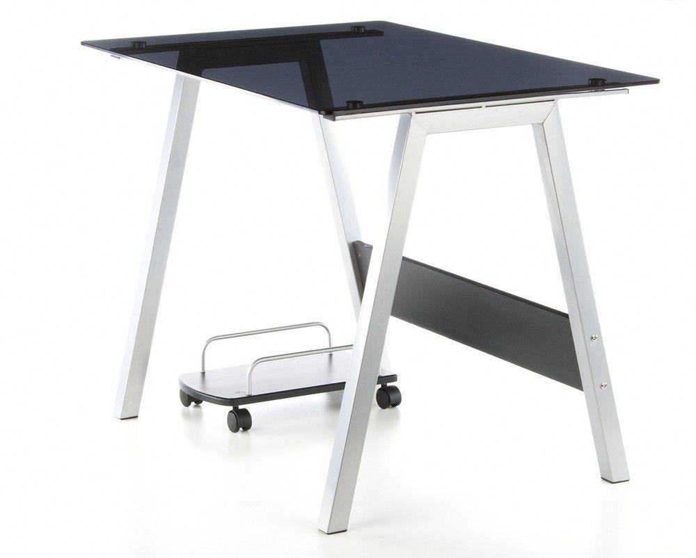 Glastisch schwarzglas  Computertisch / Schreibtisch / Glastisch DELPHI Schwarz-Glas ...
