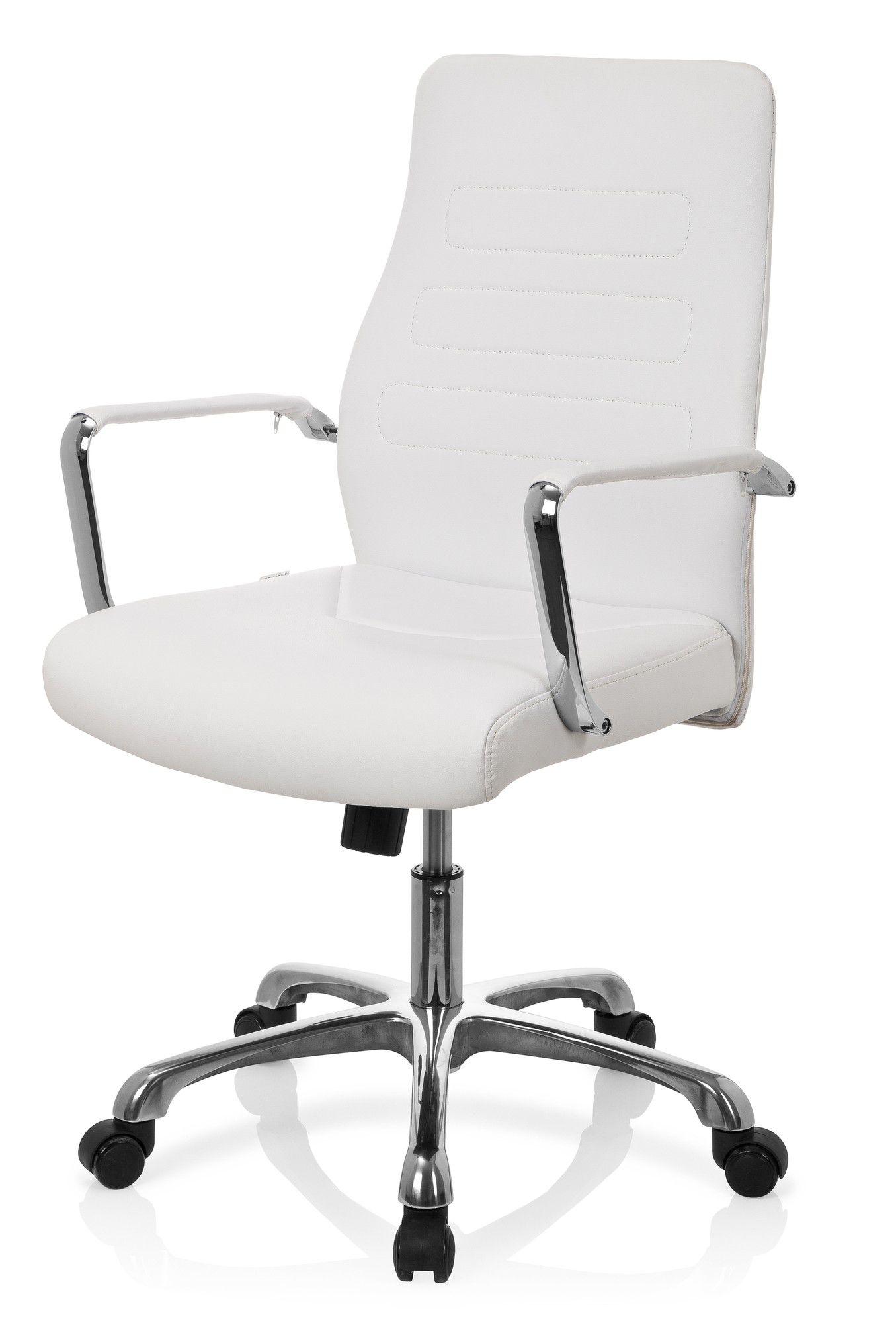 Bürostuhl Chefsessel TEWA Kunstleder creme hjh OFFICE