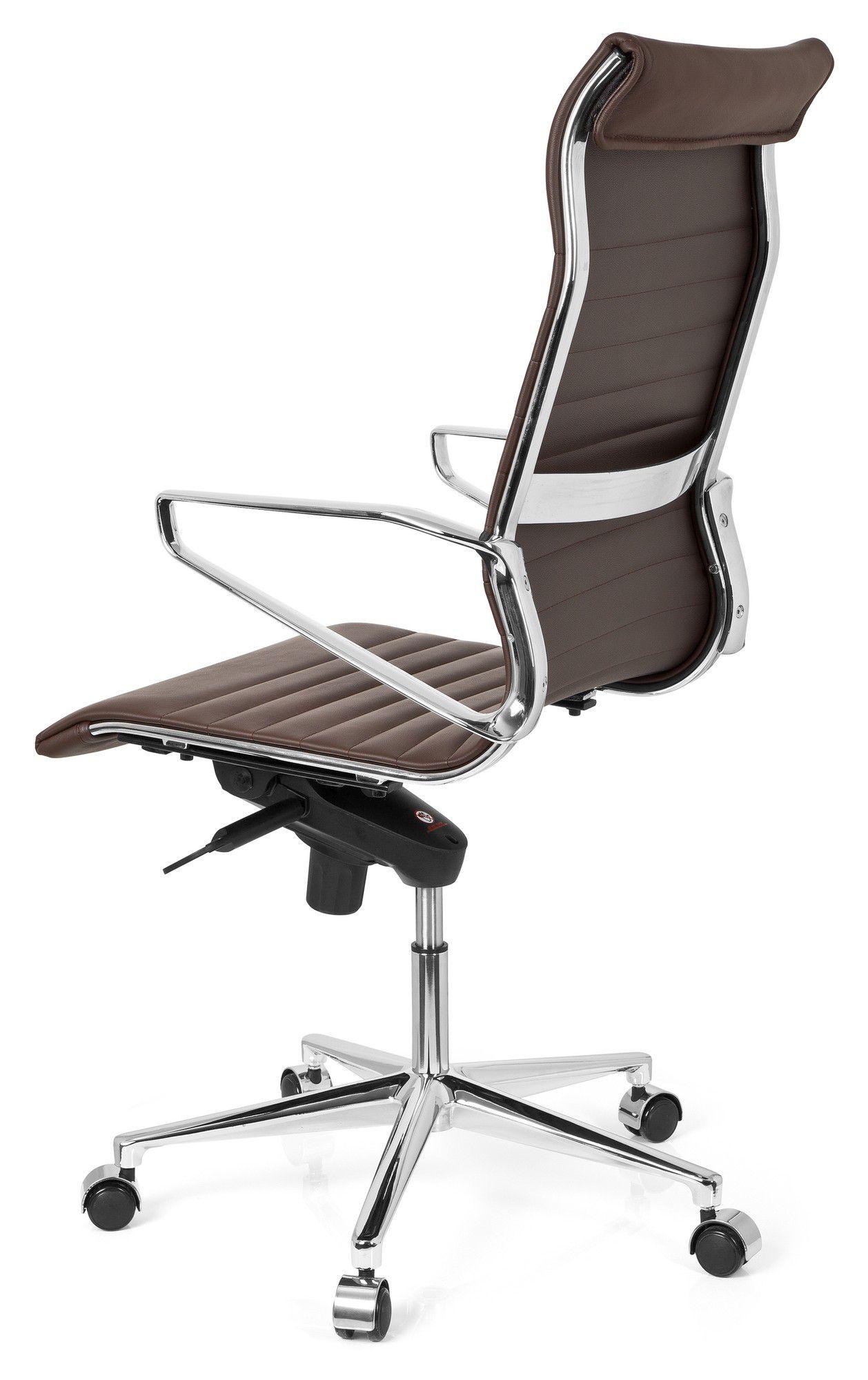 b rostuhl chefsessel pariba i leder braun hjh office. Black Bedroom Furniture Sets. Home Design Ideas
