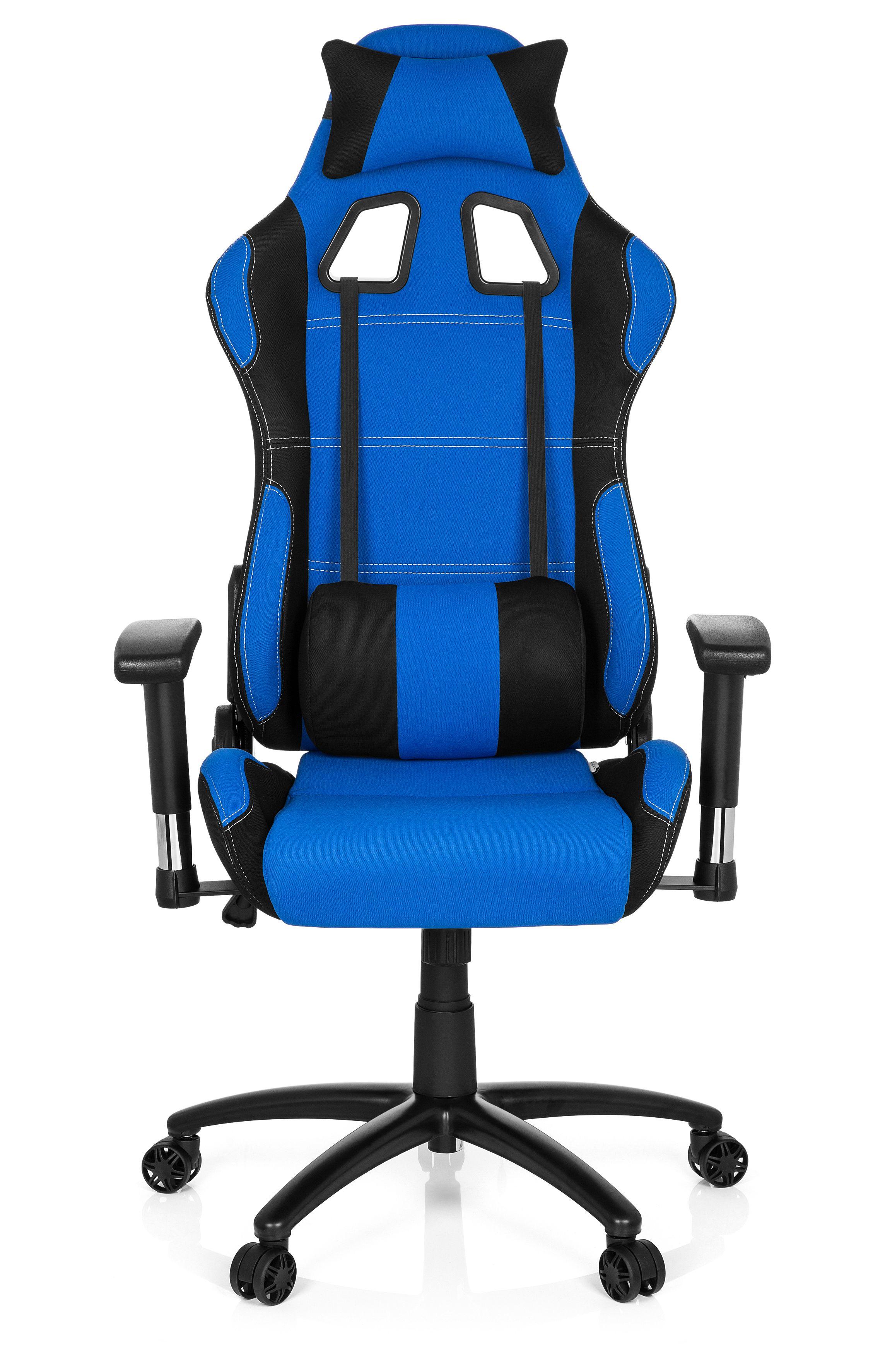 gaming stuhl b rostuhl game force stoff schwarz blau. Black Bedroom Furniture Sets. Home Design Ideas