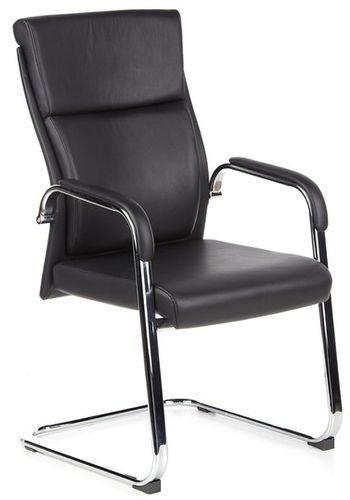 besucherstuhl freischwinger stuhl monza v feinleder schwarz hjh office b2b deutschland. Black Bedroom Furniture Sets. Home Design Ideas