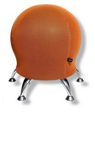 Topstar Wellnessstuhl / Sitzball / Hocker SITNESS 5 Stoff orange Chrom