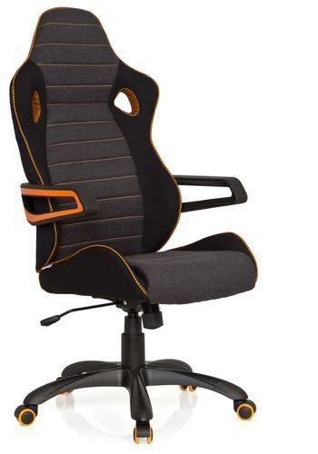 gaming stuhl b rostuhl racer pro iv stoff schwarz grau orange hjh office b2b deutschland. Black Bedroom Furniture Sets. Home Design Ideas