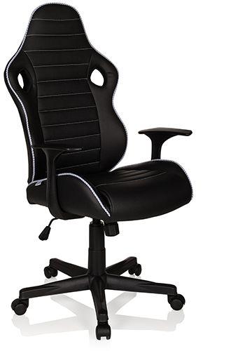 gaming stuhl b rostuhl gt racer ii kunstleder schwarz wei hjh office b2b deutschland. Black Bedroom Furniture Sets. Home Design Ideas