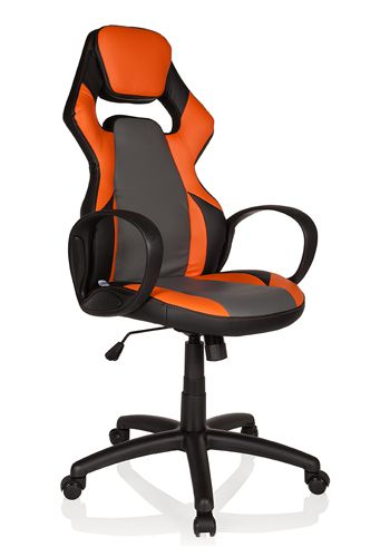 * Gaming Stuhl / Bürostuhl RANGER Kunstleder schwarz / orange hjh OFFICE