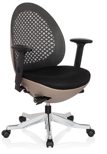 b rostuhl drehstuhl corvent taupe netz schwarz hjh office b2b deutschland. Black Bedroom Furniture Sets. Home Design Ideas
