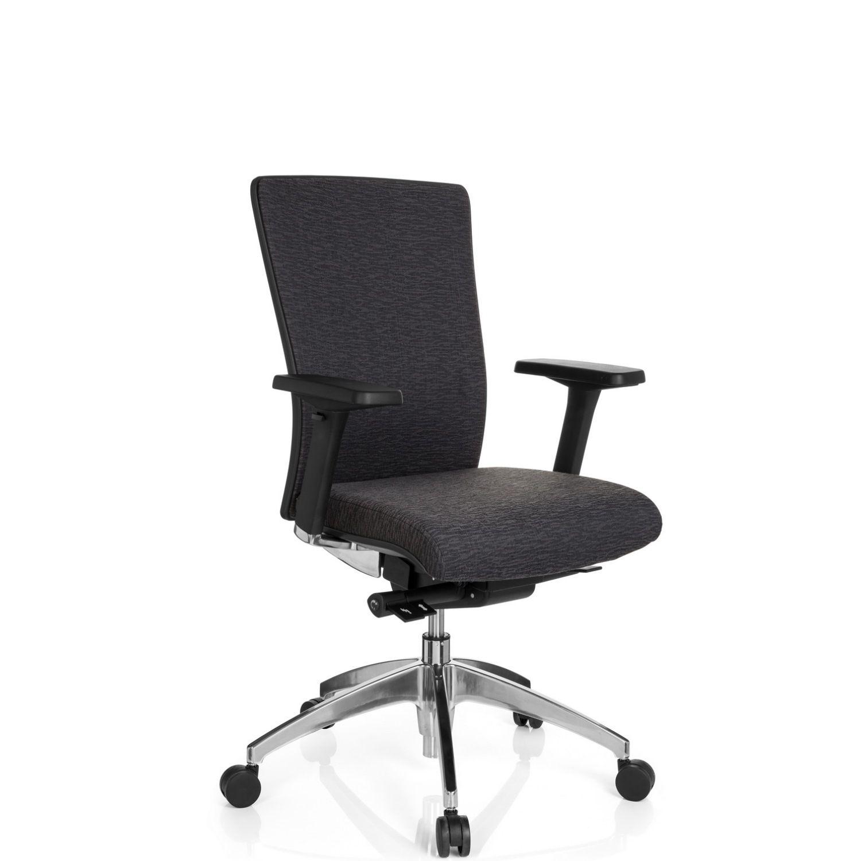 Bürostuhl Chefsessel ASTRA BASE Stoff schwarz hjh OFFICE