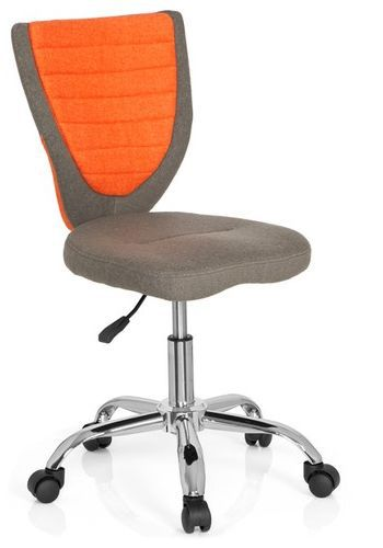 Kinderschreibtischstuhl / Kinderstuhl KIDDY COMFORT Stoff grau/orange hjh OFFICE