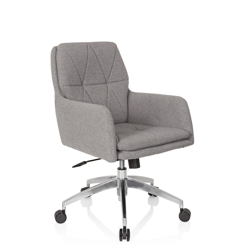 Bürostuhl Drehstuhl SHAKE 350 Stoff hellgrau hjh OFFICE