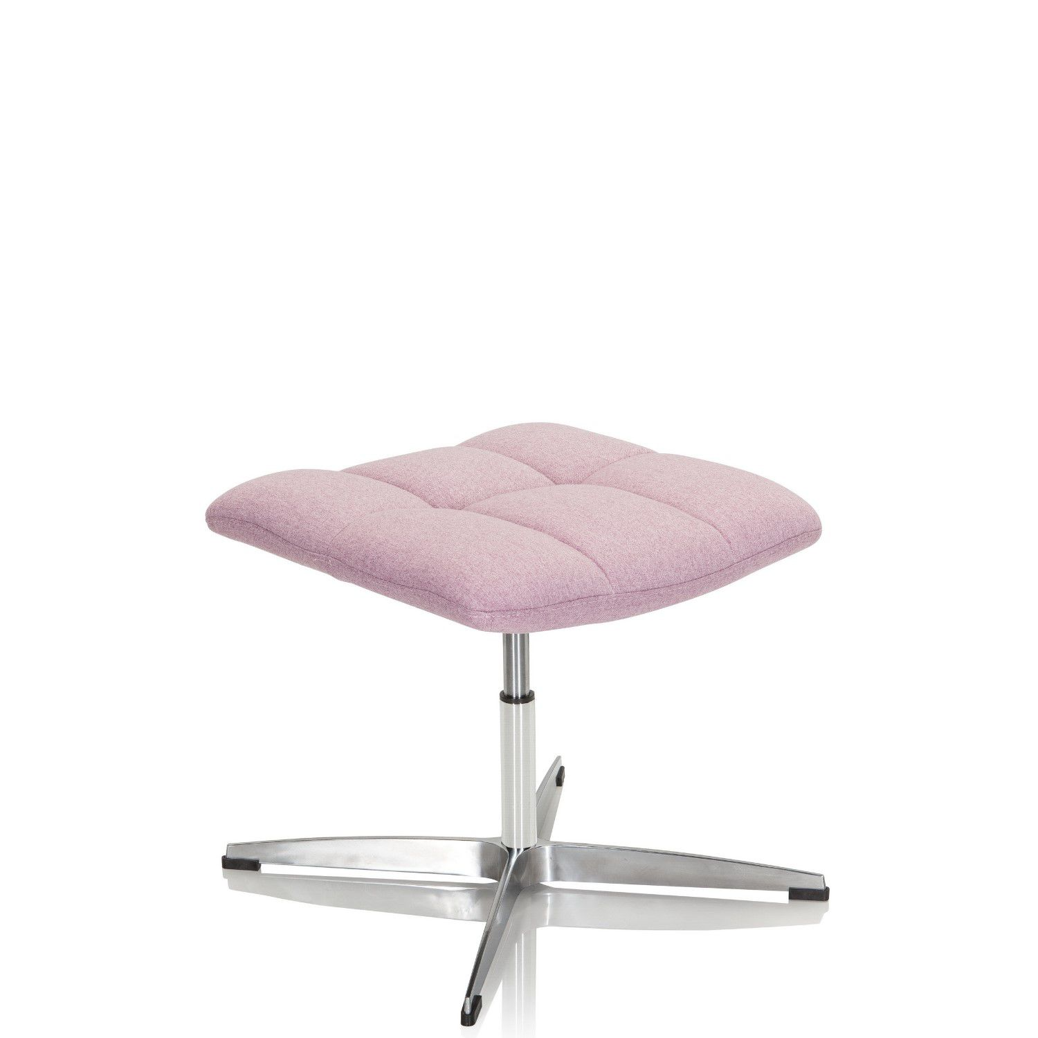 Hocker / Drehstuhl SARANTO Stoff rosa hjh OFFICE