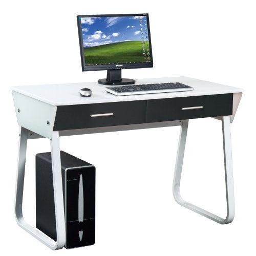 Schreibtisch mira wei hochglanz front schwarz hjh for Schreibtisch hochglanz schwarz