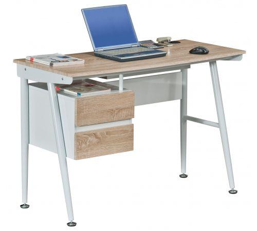 Schreibtisch easy flow ii eiche wei hjh office for Platzsparender schreibtisch