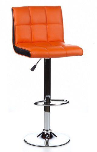 Barhocker / Tresenhocker LOUNGER DUO  (2er Pack / 2 Hocker) orange/schwarz hjh OFFICE