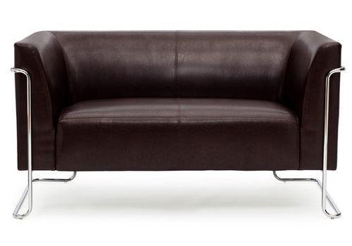 loungesofa curacao kunstleder 2 sitzer braun hjh office b2b deutschland. Black Bedroom Furniture Sets. Home Design Ideas