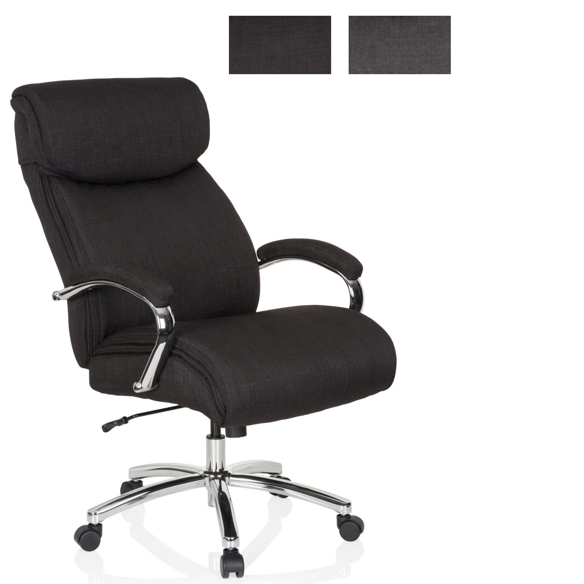 Drehstuhl Bürostuhl Chefsessel bis 180 kg Kunstleder XXL EVEREST hjh OFFICE