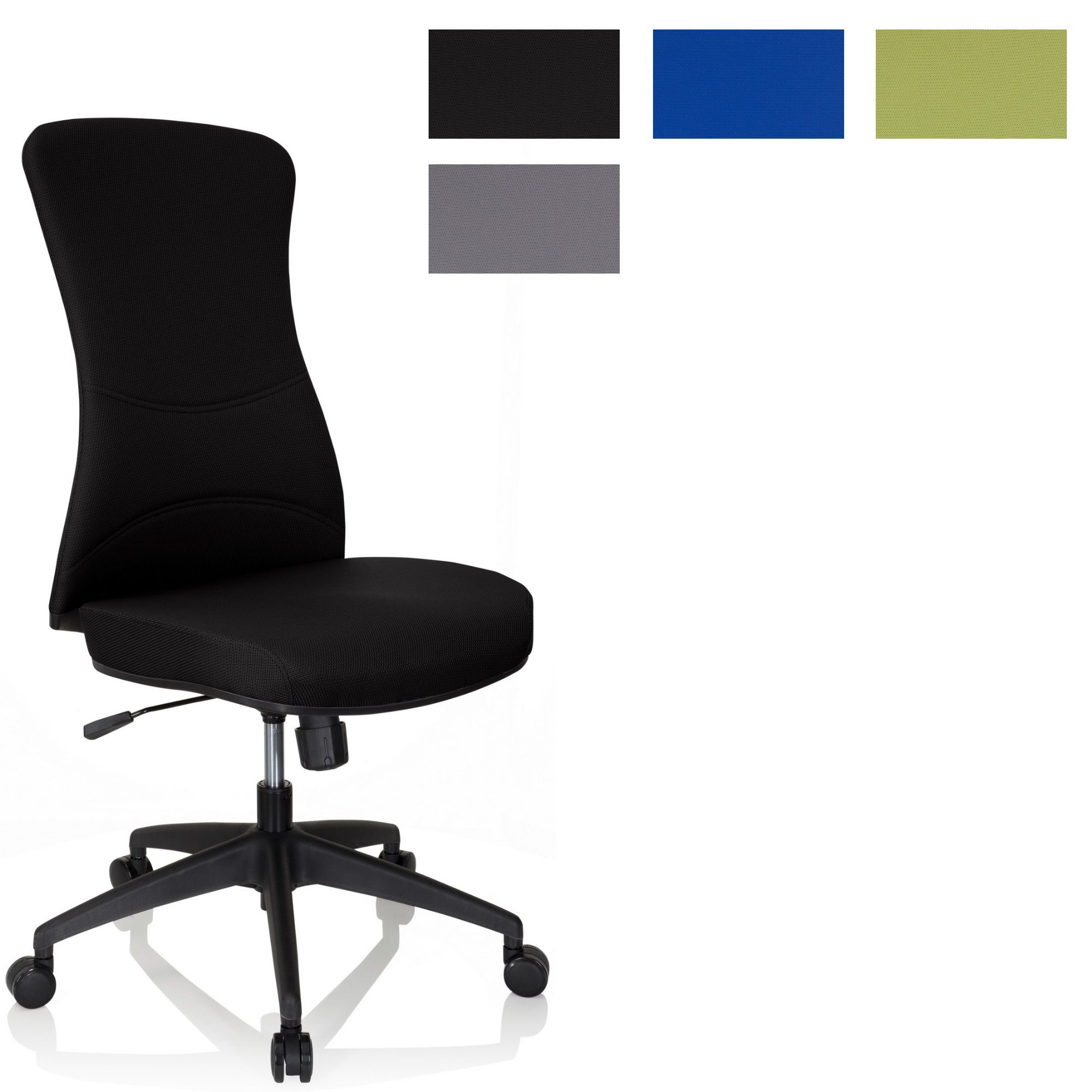 Bürostuhl Drehstuhl Schreibtischstuhl höhenverstellbar Stoff hjh OFFICE XT